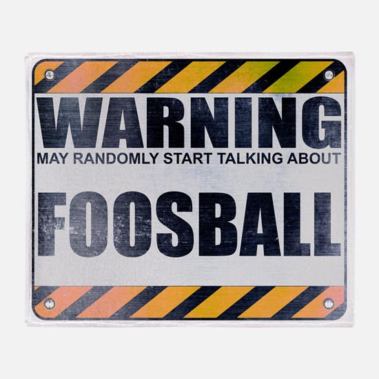 Warning: Foosball Stadium Blanket