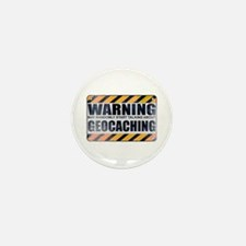 Warning: Geocaching Mini Button (10 pack)