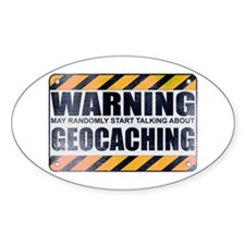 Warning: Geocaching Oval Decal