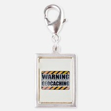Warning: Geocaching Silver Portrait Charm