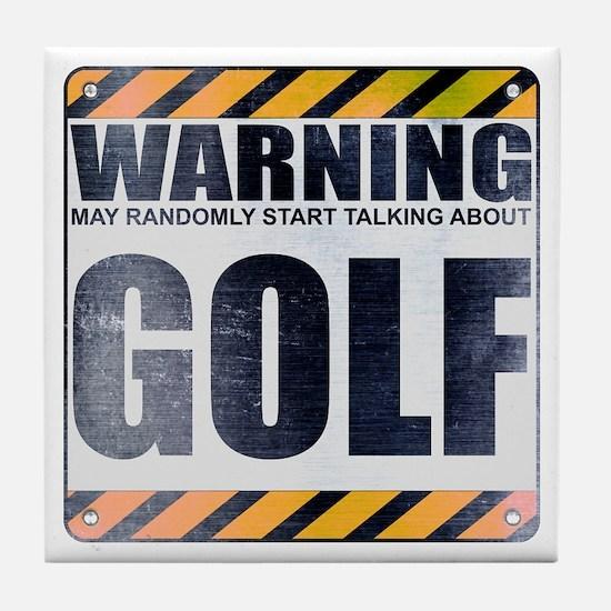 Warning: Golf Tile Coaster
