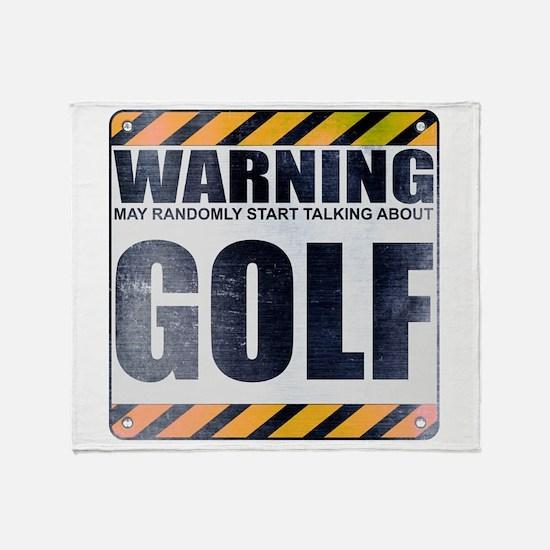 Warning: Golf Stadium Blanket
