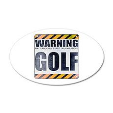 Warning: Golf 22x14 Oval Wall Peel