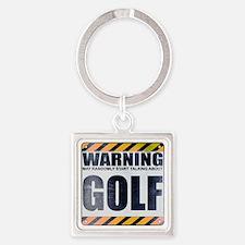 Warning: Golf Square Keychain