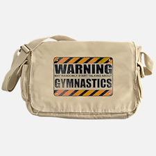 Warning: Gymnastics Canvas Messenger Bag