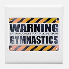 Warning: Gymnastics Tile Coaster