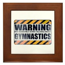 Warning: Gymnastics Framed Tile