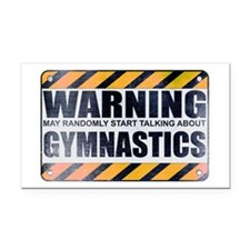 Warning: Gymnastics Rectangle Car Magnet
