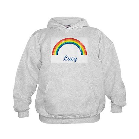 Lucy vintage rainbow Kids Hoodie
