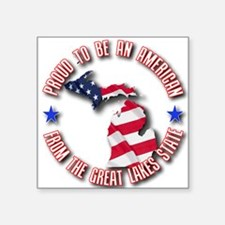 "Funny Unique patriotic Square Sticker 3"" x 3"""