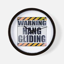 Warning: Hang Gliding Wall Clock