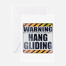 Warning: Hang Gliding Greeting Card