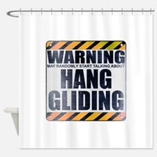 Warning: Hang Gliding Shower Curtain