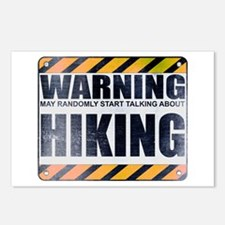 Warning: Hiking Postcards (Package of 8)