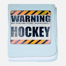 Warning: Hockey Infant Blanket