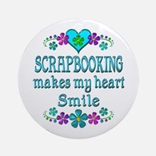 Scrapbooking Smiles Round Ornament