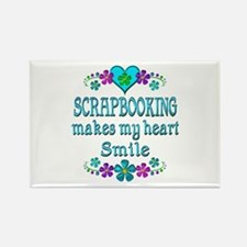 Scrapbooking Smiles Rectangle Magnet