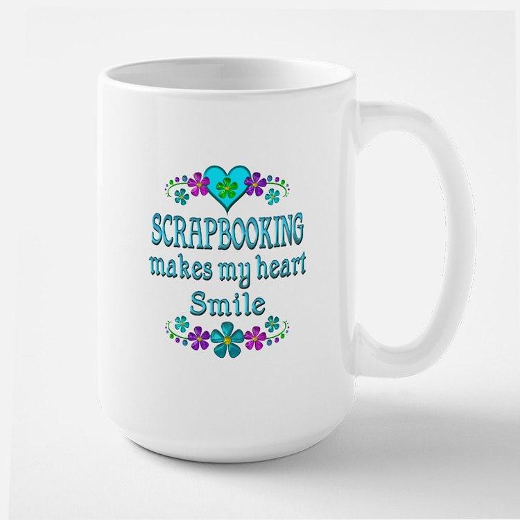 Scrapbooking Smiles Large Mug