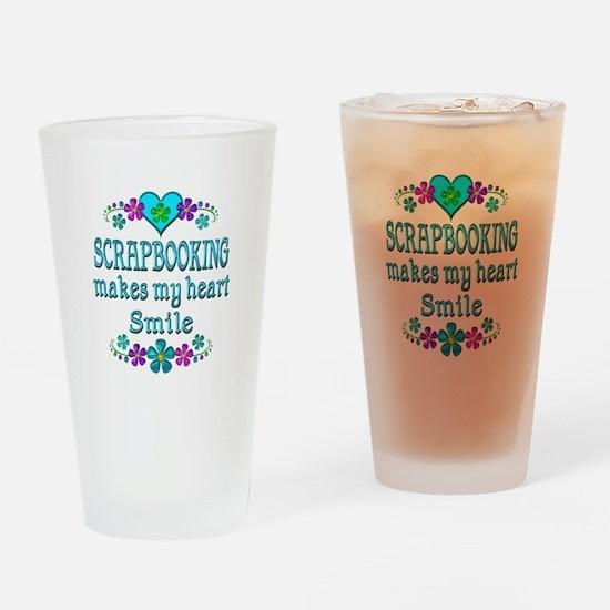 Scrapbooking Smiles Drinking Glass