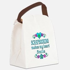 Scrapbooking Smiles Canvas Lunch Bag