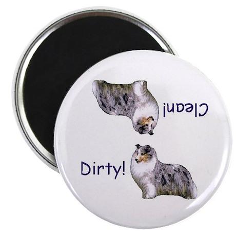 Blue Merle Sheltie Dishwasher Magnet