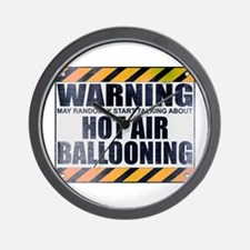 Warning: Hot Air Ballooning Wall Clock