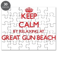 Keep calm by relaxing at Great Gun Beach Ne Puzzle