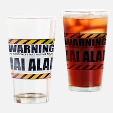 Warning: Jai Alai Drinking Glass