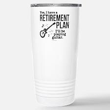 Guitar Retirement Plan Stainless Steel Travel Mug
