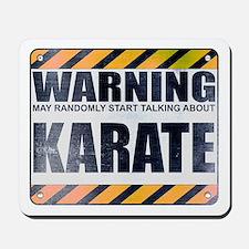 Warning: Karate Mousepad