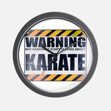 Warning: Karate Wall Clock