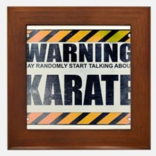 Warning: Karate Framed Tile