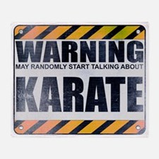 Warning: Karate Stadium Blanket