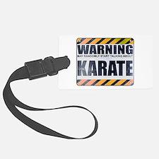 Warning: Karate Luggage Tag