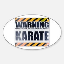 Warning: Karate Oval Decal