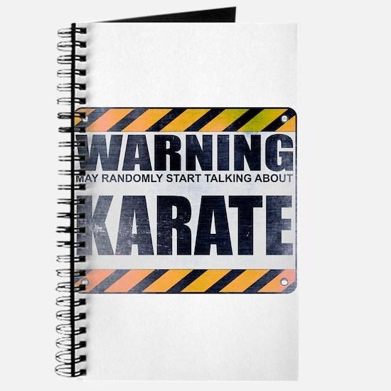 Warning: Karate Journal