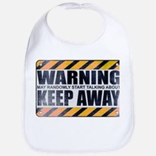 Warning: Keep Away Bib