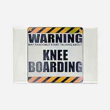 Warning: Knee Boarding Rectangle Magnet (100 pack)