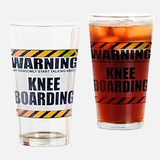 Warning: Knee Boarding Drinking Glass