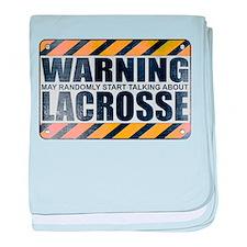 Warning: Lacrosse Infant Blanket