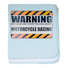 Warning: Motorcycle Racing Infant Blanket
