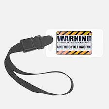 Warning: Motorcycle Racing Luggage Tag