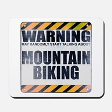 Warning: Mountain Biking Mousepad
