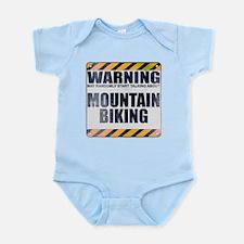 Warning: Mountain Biking Infant Bodysuit