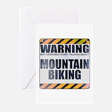 Warning: Mountain Biking Greeting Cards (10 pack)