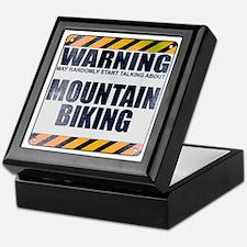 Warning: Mountain Biking Keepsake Box
