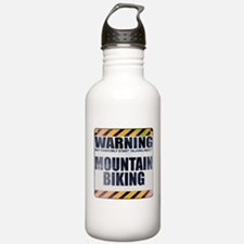 Warning: Mountain Biking Water Bottle