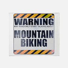 Warning: Mountain Biking Stadium Blanket