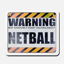 Warning: Netball Mousepad