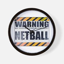 Warning: Netball Wall Clock